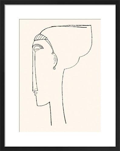Profile Of A Head by Amedeo Modigliani