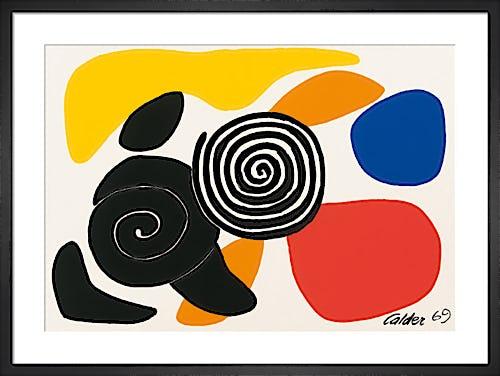 Spirals and Petals 1969 by Alexander Calder