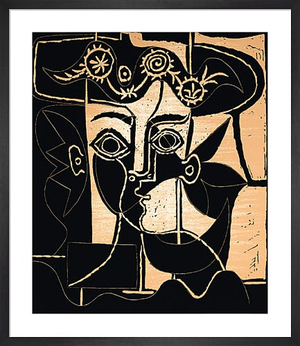 Woman With A Hat Of Orne by Pablo Picasso