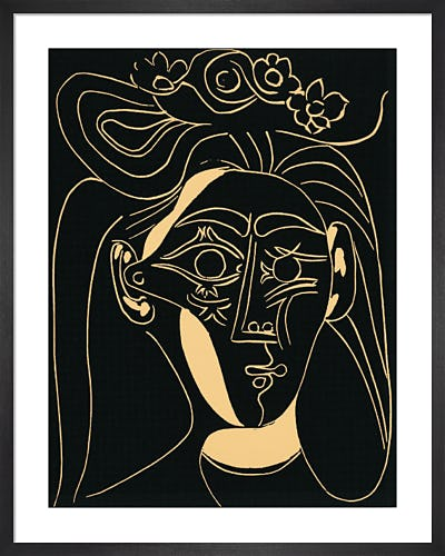 Woman With A Hat In Bloom 1962 by Pablo Picasso