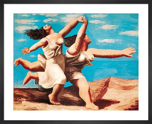 Two Women Running on the Beach by Pablo Picasso