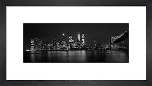New York skyline at night by Mirrorpix