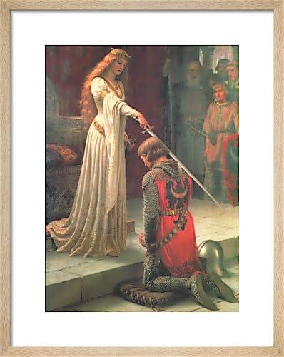 The Accolade by Edmund Blair Leighton