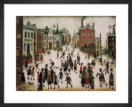 A Village Square by L.S. Lowry