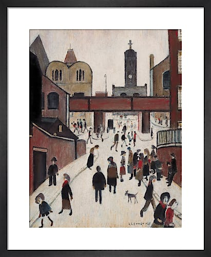 Street Scene with Viaduct by L.S. Lowry