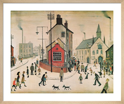 A Street in Clitheroe by L.S. Lowry