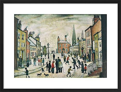 A Lancashire Village by L.S. Lowry