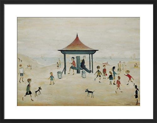 On the sands, Berwick on Tweed by L.S. Lowry