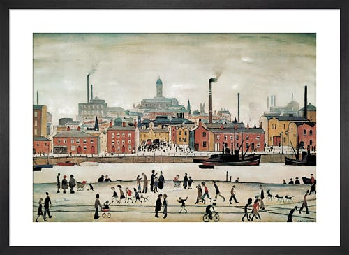 Northern River Scene by L.S. Lowry