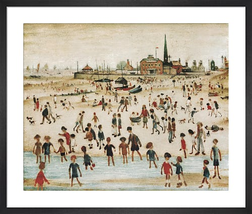 At the Seaside by L.S. Lowry